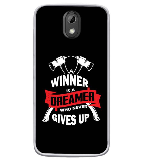 Winner is Dreamer Soft Silicone Back Cover for HTC Desire 526