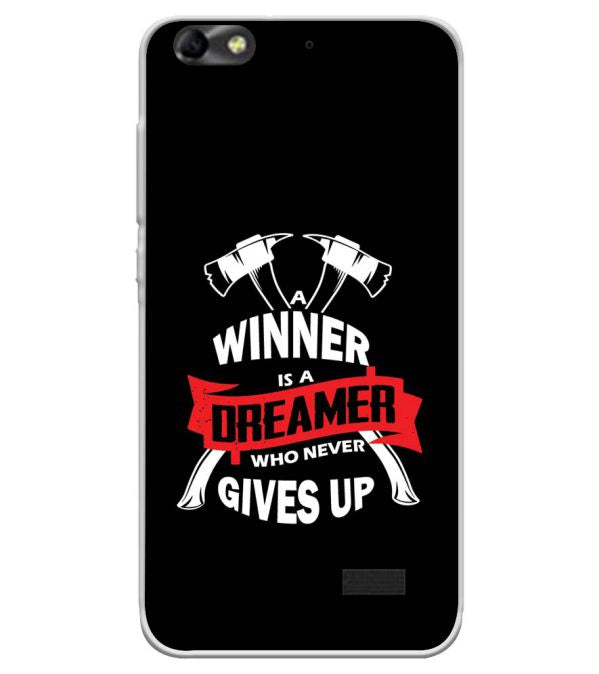 Winner is Dreamer Soft Silicone Back Cover for Huawei Honor Bee 4G
