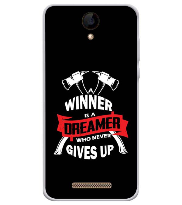Winner is Dreamer Soft Silicone Back Cover for iVOOMi 505