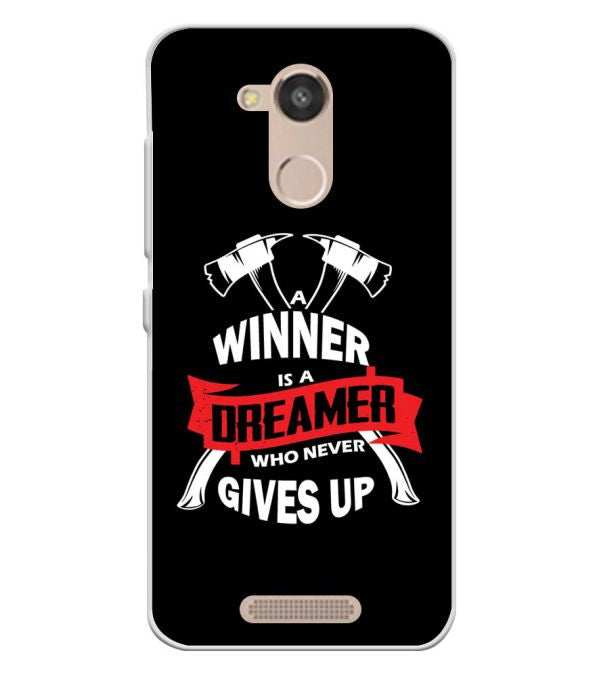 Winner is Dreamer Soft Silicone Back Cover for InFocus Turbo 5s