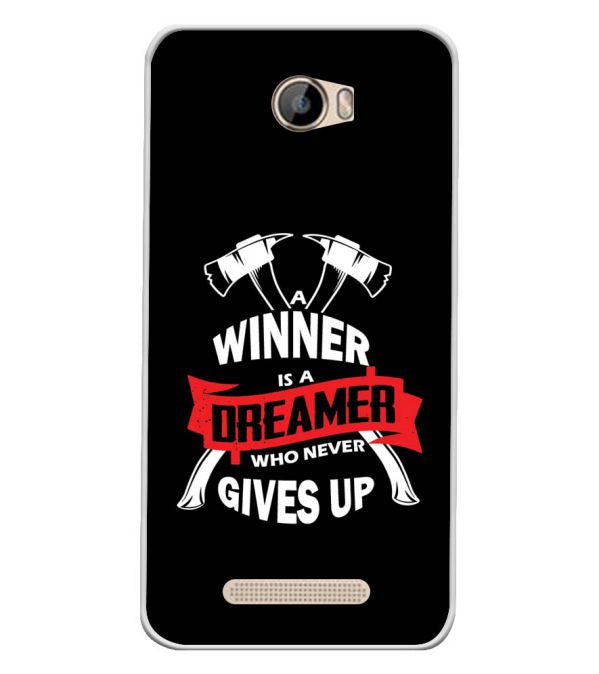 Winner is Dreamer Soft Silicone Back Cover for Intex Aqua 5.5 VR