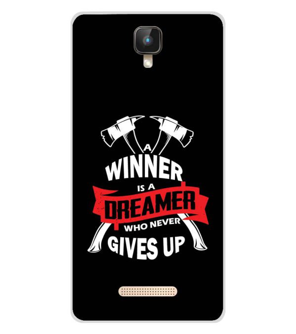 Winner is Dreamer Soft Silicone Back Cover for Intex Aqua Lions 2 4G