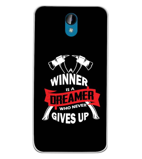 Winner is Dreamer Soft Silicone Back Cover for Intex Lions 6