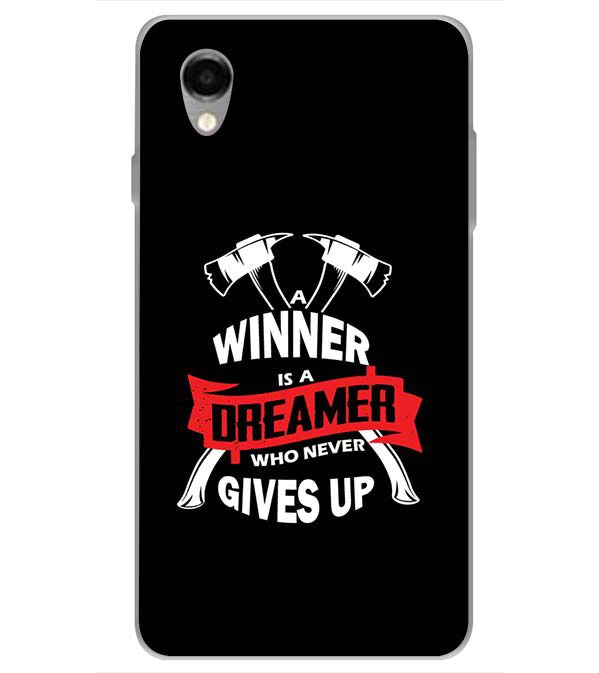 Winner is Dreamer Back Cover for ITEL PWO Pro