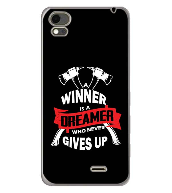 Winner is Dreamer Back Cover for Karbonn Aura Note 4G