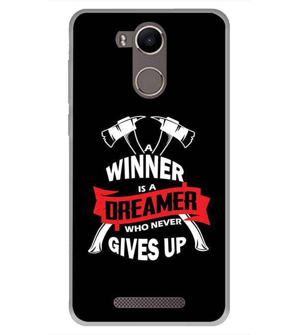 Winner is Dreamer Back Cover for Karbonn K9 Kavach 4G