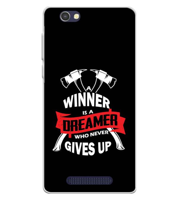 Winner is Dreamer Soft Silicone Back Cover for Lava A72