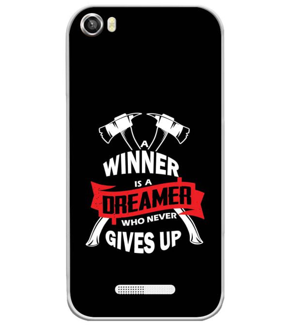 Winner is Dreamer Soft Silicone Back Cover for Lava Iris X8