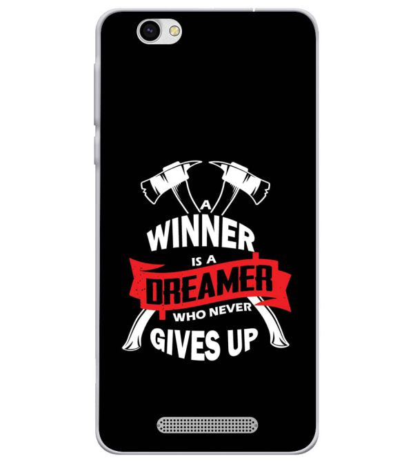Winner is Dreamer Soft Silicone Back Cover for Lava X28