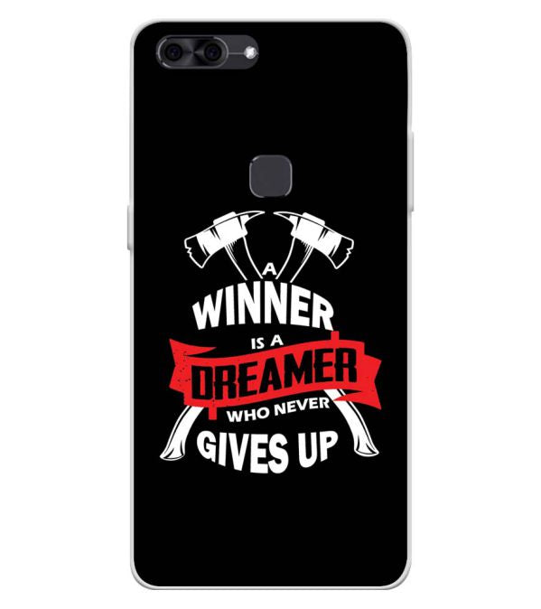 Winner is Dreamer Soft Silicone Back Cover for Lava Z90
