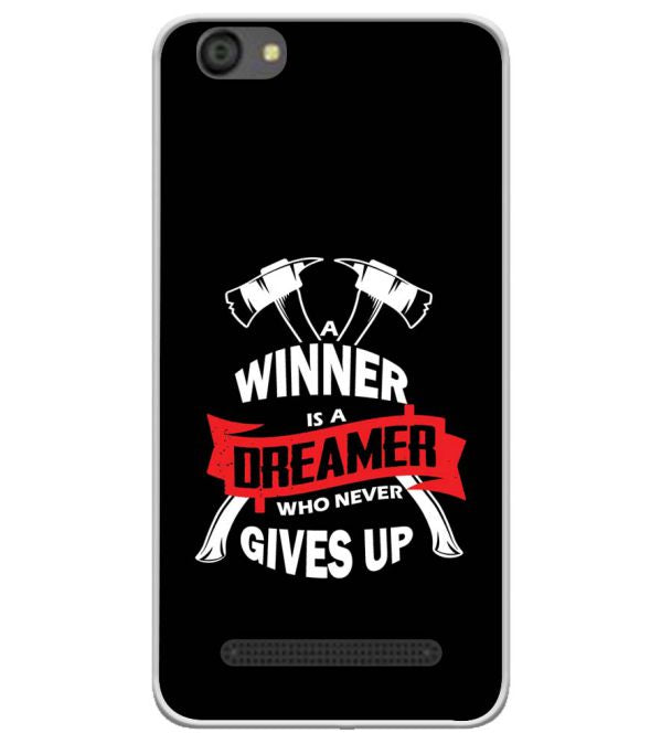 Winner is Dreamer Soft Silicone Back Cover for LYF Flame 5