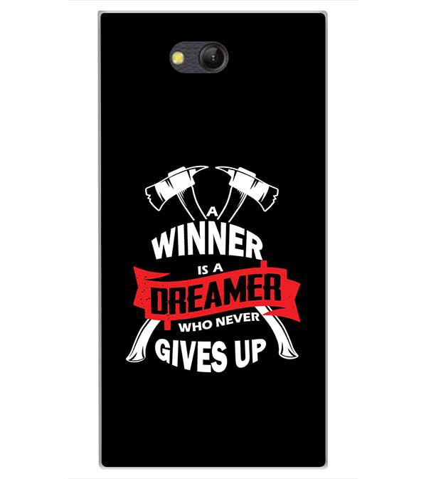 Winner is Dreamer Back Cover for LYF Wind 4