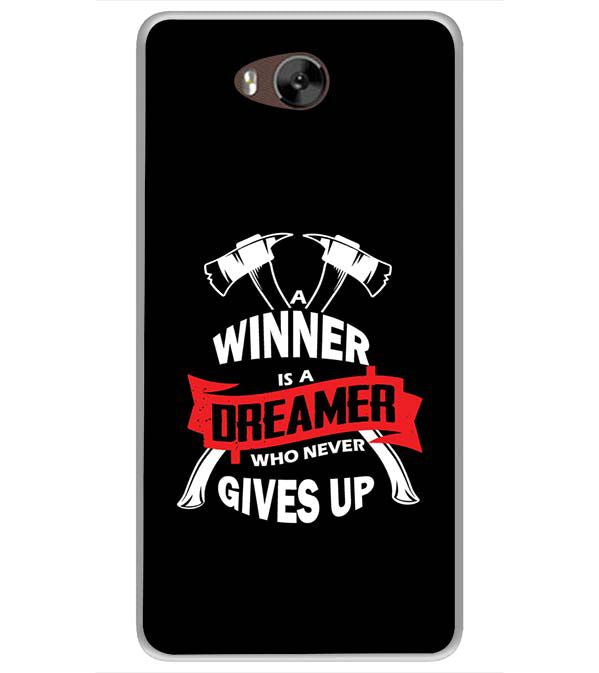 Winner is Dreamer Soft Silicone Back Cover for LYF Wind 4s