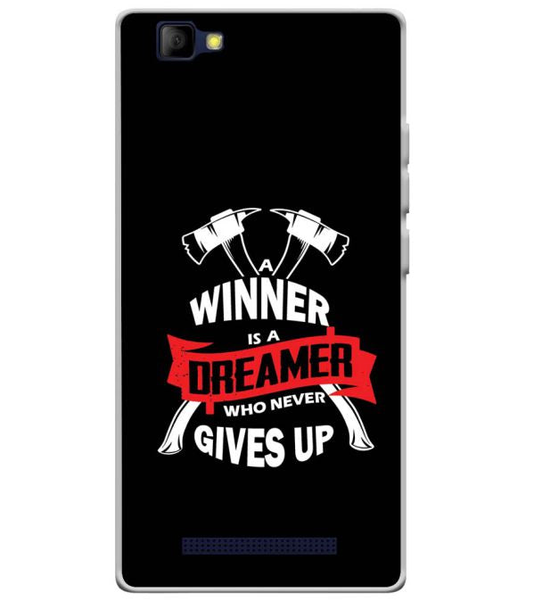 Winner is Dreamer Soft Silicone Back Cover for Lyf Wind 7S