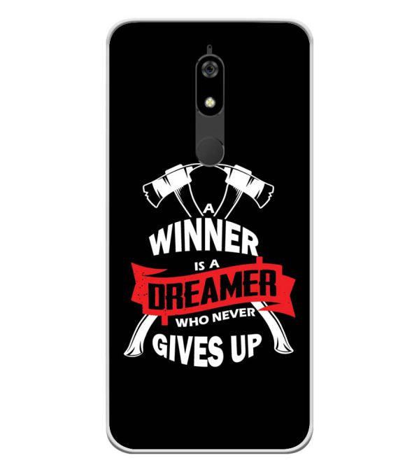 Winner is Dreamer Soft Silicone Back Cover for Micromax Canvas Infinity Pro