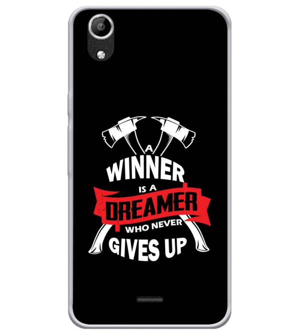 Winner is Dreamer Soft Silicone Back Cover for Micromax Selfie Lens Q345