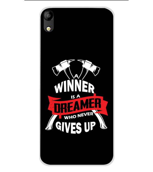 Winner is Dreamer Soft Silicone Back Cover for Mobistar C1