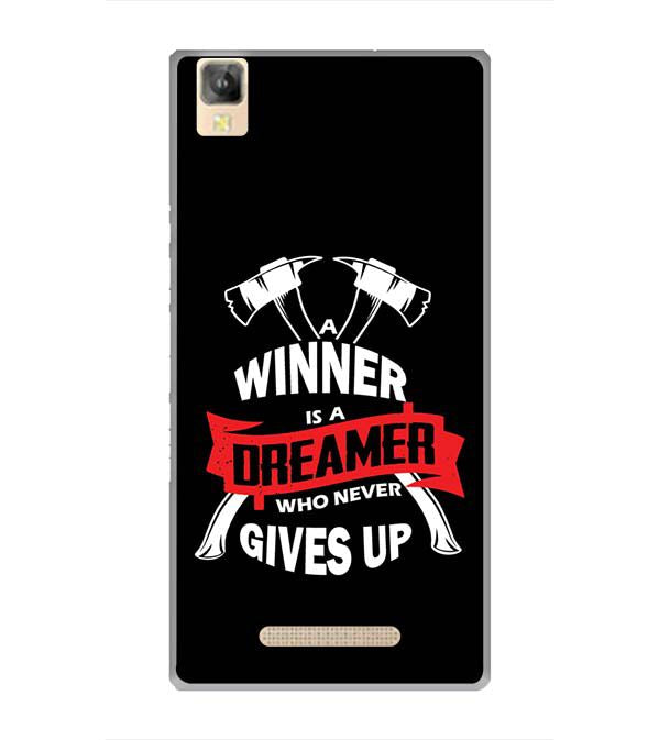 Winner is Dreamer Back Cover for Panasonic Eluga A2