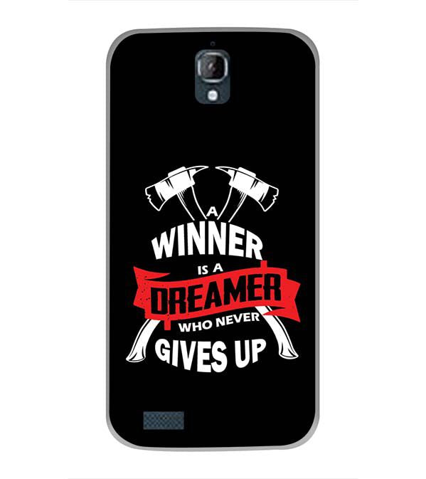 Winner is Dreamer Back Cover for Panasonic Eluga Icon