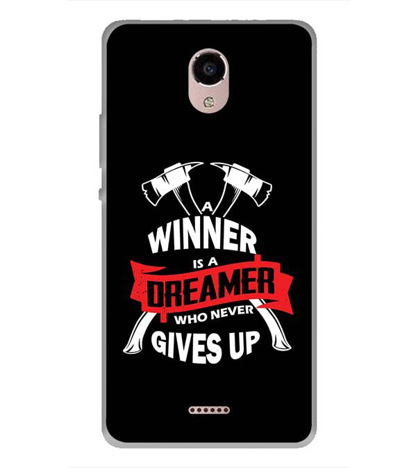 Winner is Dreamer Back Cover for Panasonic Eluga RayX