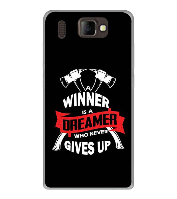 Winner is Dreamer Back Cover for Panasonic P66 Mega
