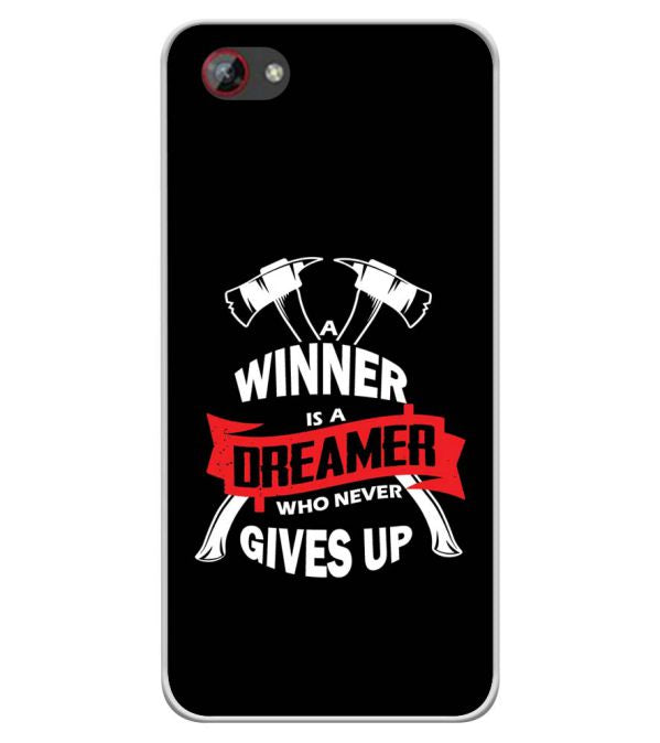 Winner is Dreamer Soft Silicone Back Cover for Spice F301