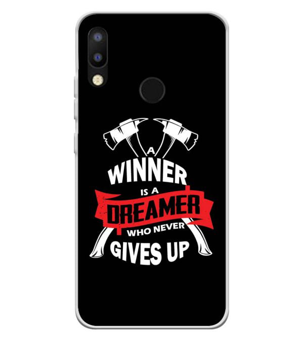 Winner is Dreamer Soft Silicone Back Cover for Tecno Camon i2