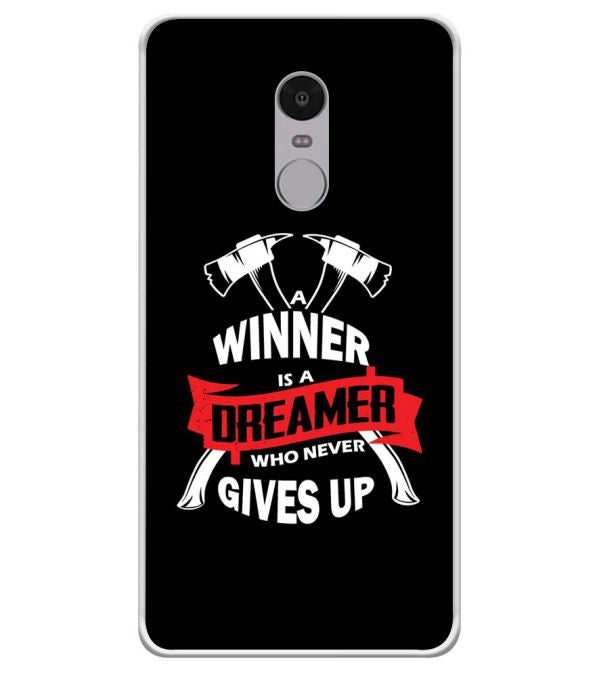 Winner is Dreamer Soft Silicone Back Cover for Xiaomi Redmi Note 4