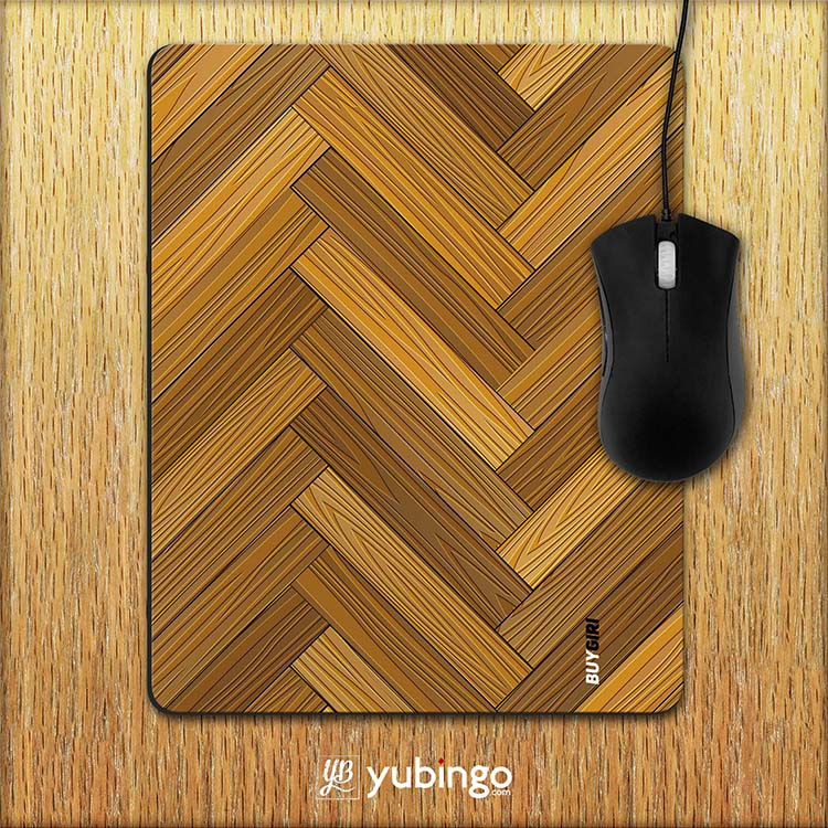 Wood Pattern Mouse Pad