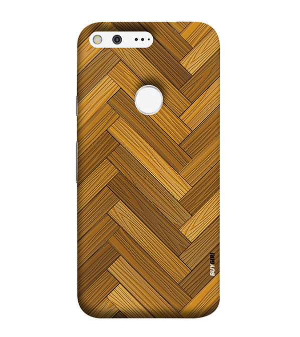Wood Pattern Back Cover for Google Pixel