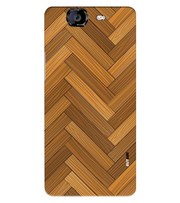 Wood Pattern Back Cover for Micromax A350 Canvas Knight