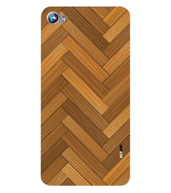 Wood Pattern Back Cover for Micromax Canvas Fire 4 A107
