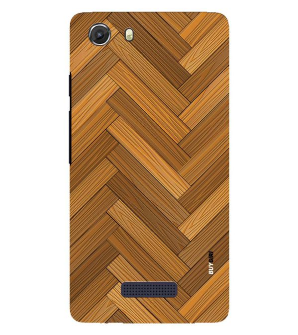 Wood Pattern Back Cover for Micromax Q372 Unite 3
