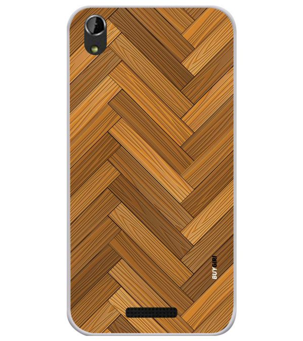 Wood Pattern Soft Silicone Back Cover for Lava Iris Atom X1