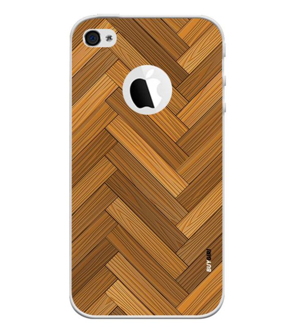 Wood Pattern Back Cover for Apple iPhone 4 and iPhone 4S (Logo Cut)-Image3