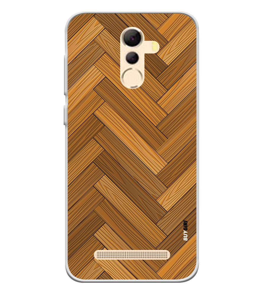 Wood Pattern Soft Silicone Back Cover for Coolpad Mega 5A