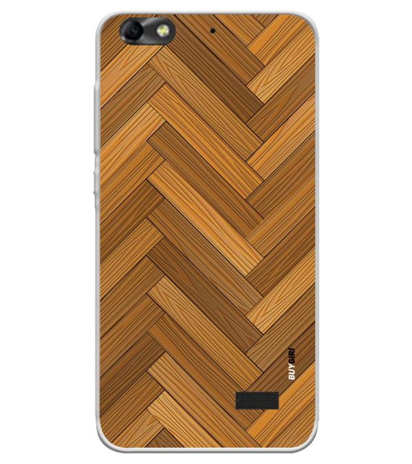Wood Pattern Soft Silicone Back Cover for Huawei Honor Bee 4G