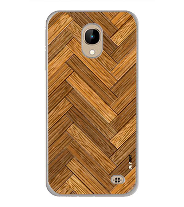 Wood Pattern Back Cover for InFocus A2