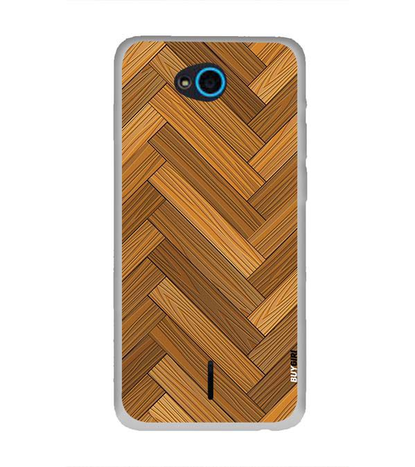 Wood Pattern Back Cover for InFocus Bingo 21