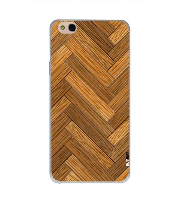 Wood Pattern Back Cover for InFocus Bingo 50 Plus