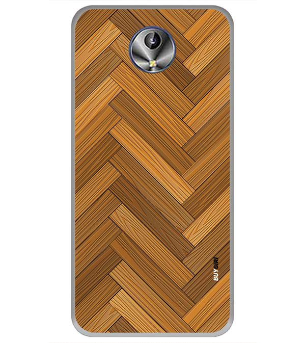 Wood Pattern Back Cover for Intex Amaze+