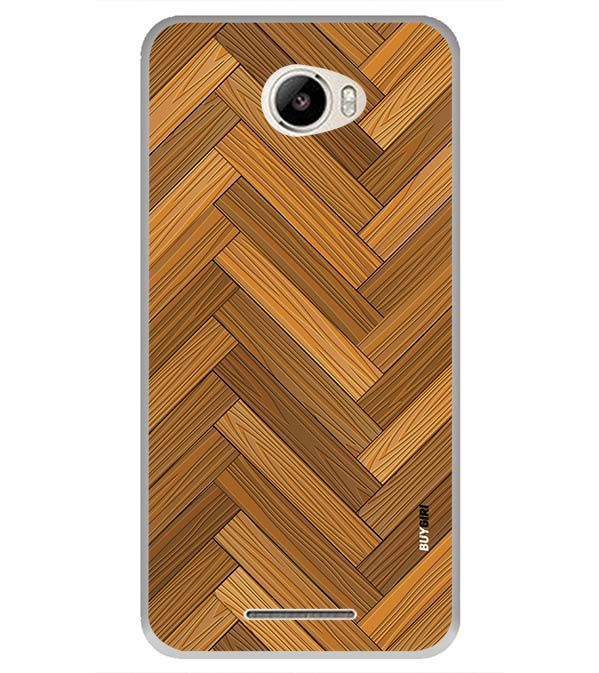 Wood Pattern Back Cover for Intex Intx Trend Lite