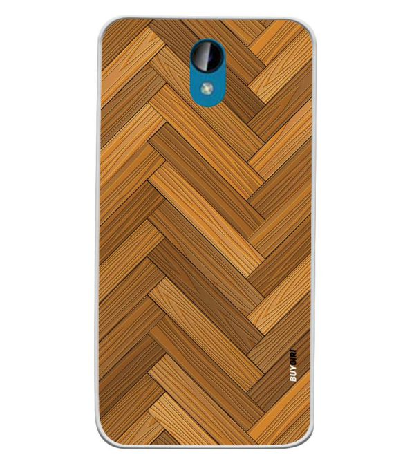 Wood Pattern Soft Silicone Back Cover for Intex Lions 6