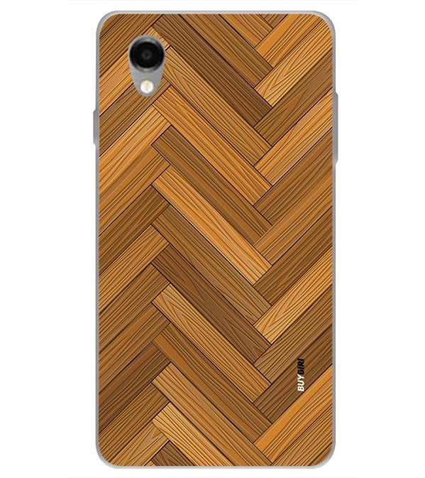 Wood Pattern Back Cover for ITEL PWO Pro