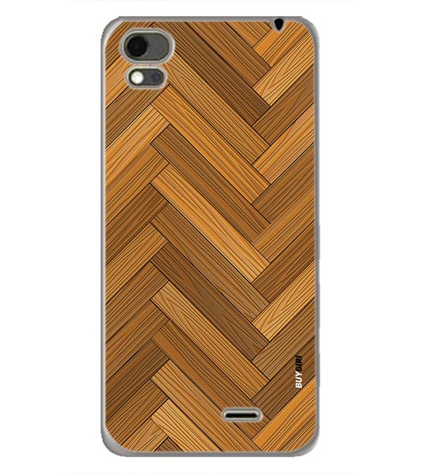 Wood Pattern Back Cover for Karbonn Aura Note 4G