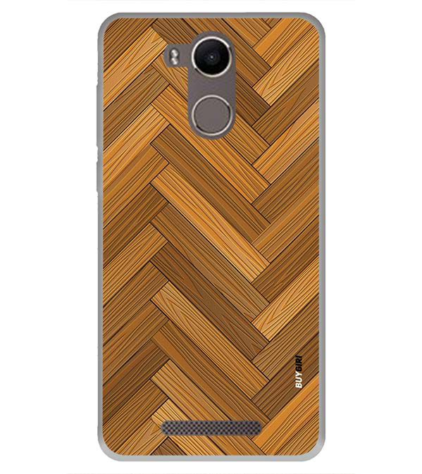 Wood Pattern Back Cover for Karbonn K9 Kavach 4G