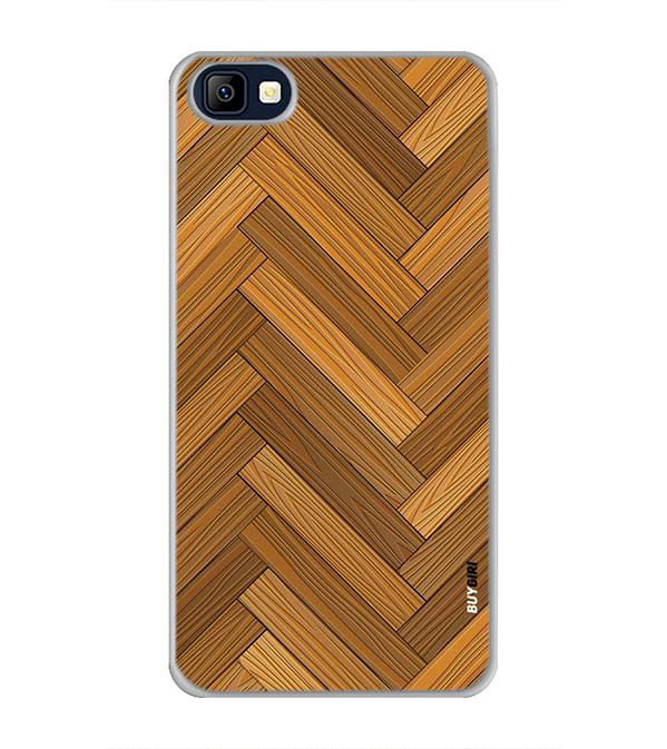 Wood Pattern Back Cover for Karbonn K9 Smart Selfie