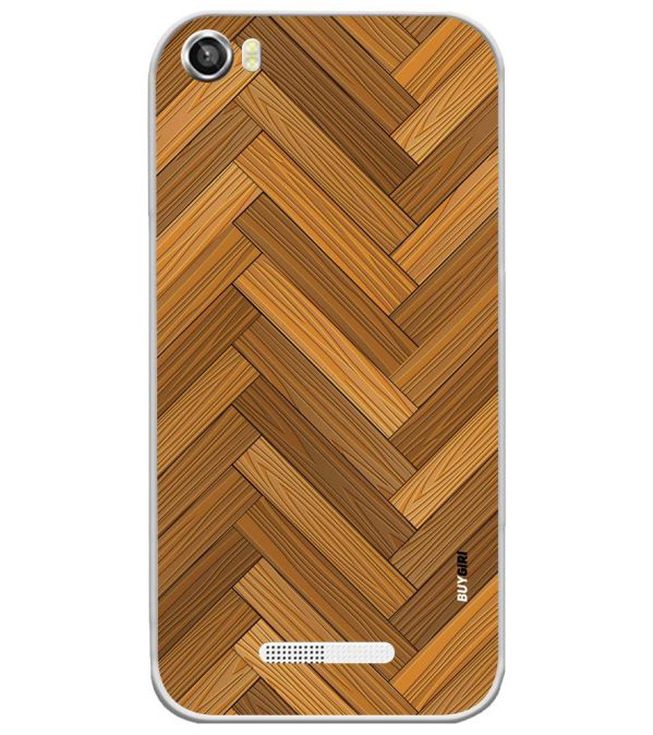Wood Pattern Soft Silicone Back Cover for Lava Iris X8
