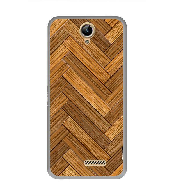 Wood Pattern Back Cover for Lephone W10