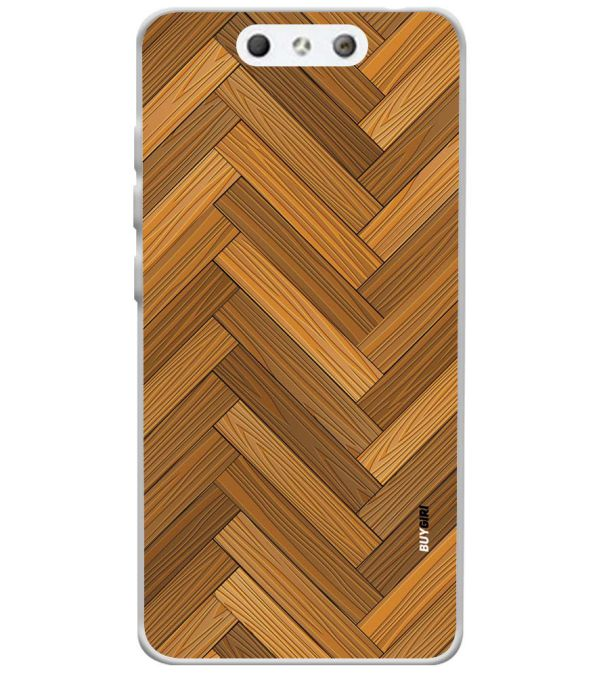 Wood Pattern Soft Silicone Back Cover for LYF Earth 1